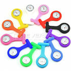 NEW Nurse Watch Silicone Quartz Movement Fob Brooch Pendant Pocket Tunic Watches
