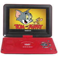 "Portable 10"" inch LCD DVD VCD CD Player with 180° Swivel Support Game+USB+SD Red"