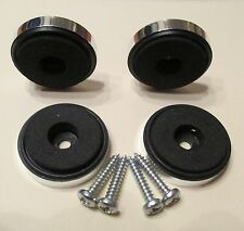 A Set of 4 x Chrome Isolation Feet 30 mm. x 8 mm.  Complete with Screws