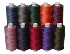10 Dark Colours of Moon Polyester Sewing Thread, 1000yds Each Spool