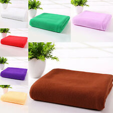 Soft Microfiber Towel Fast Drying Travel Beach Gym Outdoor Bath Towels White