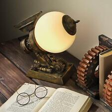 FANTASY STEAMPUNK FUTURISTIC AIRSHIP GLASS ORB TABLE LAMP LIGHT HOME DECOR NEW
