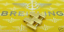 BREITLING 18CT GOLD ELEMENT 16MM BREITE PILOT-ARMBAND HERREN 90er Jahre