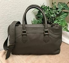 Liebeskind Berlin Gray Pebble Leather Shoulder Handbag Satchel Bag Med-Large VGC