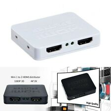 Full HD 1x2 Port HDMI 1 in 2 out Splitter Amplifier Repeater 1080p Female HSP-M