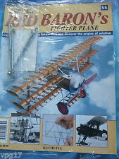 BUILD THE RED BARON'S FIGHTER PLANE FOKKER DR1  HACHETTE  ISSUE 55  NEW SEALED