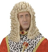 Mens Long Blonde Louis XIV 16 Wig Judge Colonial Noble French Fancy Dress