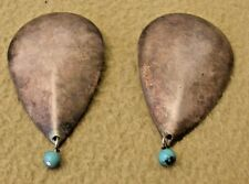 Vintage Kate Hines Magnetic Pierced Earrings with Turquoise Beads