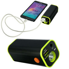 New LED Flashlight 4x18650 Battery Charger Box Mobile Power Bank Torch for Bike
