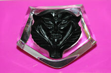 Lalique Glass Paperweight with Black Satyr Mask