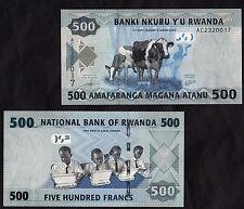 RWANDA BANKNOTE 500 FRANCS 2013 FIOR DI STAMPA UNC APPENA USCITA MOLTO BELLA