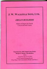 PUBLICITY BOOKLET OF J. W. WALKER & SONS LTD ORGAN BUILDERS LONDON C. 1920.