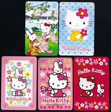 HELLO KITTY Baby Cat Kimono Japan Mt Fuji 5x SINGLE Swap Playing Cards NOT DECK
