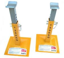 PAIR STANFRED TWIN PIN TYPE 1500KG VEHICLE SAFETY SUPPORT AXLE STANDS