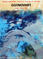 GUINOVART JOSEP AFFICHE TIRÉE EN LITHOGRAPHIE 1988 LITHOGRAPHIC POSTER