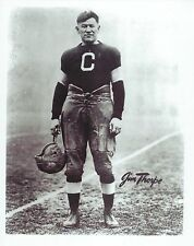 JIM THORPE 8X10 PHOTO CANTON BULLDOGS PICTURE FOOTBALL HOLDING HELMET