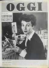 OGGI N°50/ 10/DIC/1953 * L'ATTRICE CLAIRE BLOOM AMA LA VITA SEMPLICE . . .