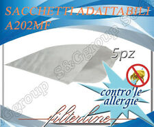 A202MF 5 sacchetti filtro microfibra x Alfatec Bidone  Aquaclean AC200