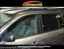 IN-CHANNEL RAIN GUARDS FOR HYUNDAI SANTA FE WIND DEFLECTORS 2006-2009