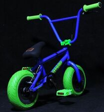 "10"" Fatboy Mini  BMX Bicycle  Fat Tires Boy ( 3 piece crank) Blue / Green"