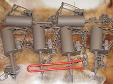 6 Powder Coated Duke DP Dog Proof Coon Traps & 1 DP setterTrapping Raccoon