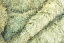 D235 DELUXE SIBERIAN BLUE FOX FAUX FUR STUNNING REALISTIC QUALITY MADE IN ITALY