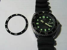 - 2pc Black  BEZEL Insert made for CITIZEN DIVER 8200 New