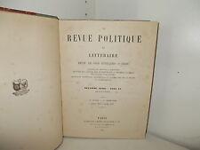 La Revue Politique et Littéraire. Revue des cours Litteraires. Collège de France