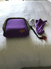 Gently Used BubbleBum Booster Car Seat PURPLE Inflatable Portable Bubble Bum