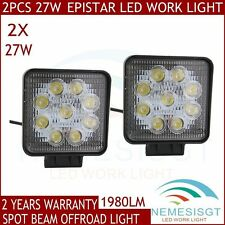 2X 27W Spot Beam Square LED Work Light Bar Off-road Driving Light Truck ATV UTE