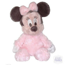 Disney Parks Plush Baby Plushie Pink Minnie Mouse Rattle Fuzzy Suffed Baby Toy