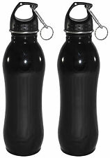 2 Pack - 25 oz - Wide Mouth - Stainless Steel Sports Water Bottle With Clip