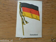 COUNTRY FLAG- SILK ENBLEMEN SEW ON BADGE DUITSLAND GERMANY  FLAG FROM THE 50'S ?