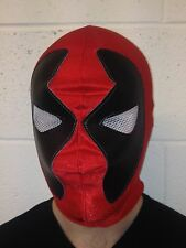 Red Wrestling Spandex Mask mexican wrestling fancy dress Halloween Adult Child's