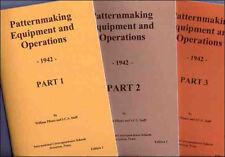 1942 Patternmaking Equipment & Operations - 3 volumes - reprint