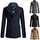 Fashion Fall Winter Men Slim Fit Casual Business Trench Coats Jacket Outwear New