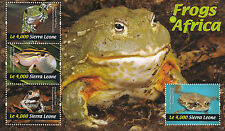 Sierra Leone 2011 MNH Frogs of Africa 4v Sheetlet Tree Frog African Red Toad