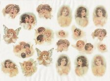 Rice Paper for Decoupage Decopatch Scrapbook Craft Sheet Vintage Lovely Angels