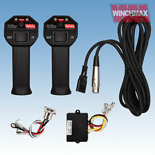 WIRELESS WINCH REMOTE CONTROL TWIN HANDSET WINCHMAX 12V 12 VOLT + LEAD + SOCKET