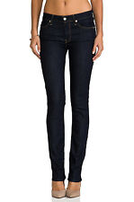 7 FOR ALL MANKIND JEANS THE MODERN STRAIGHT IN INK RINSE DARK WASH SIZE 24 (NWT)