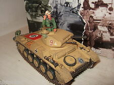 Raro King and country AK030 Panzer 11 tanque con comandante Figura En Escala 1:30.