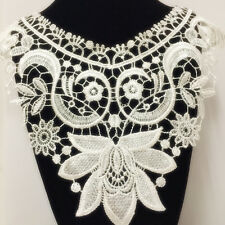 New Lace Embroidered Floral Neckline Neck Collar Trim Clothes Sewing Applique 88