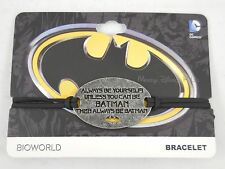 DC Comics Always Be Yourself Unless You Can Be Batman Cord Bracelet Wristband