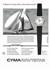 PUBLICITE ADVERTISING 024   1958   CYMA  montre NAVYSTAR