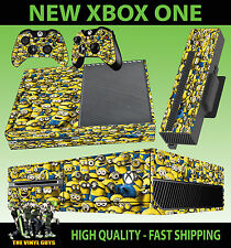 XBOX ONE CONSOLE STICKER DESPICABLE ME MINION COVERED SKIN & 2 PAD SKINS