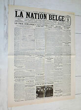 FAC-SIMILE A LA UNE JOURNAL NATION BELGE 09/12 1921 IRLANDE GUERRE INDEPENDANCE