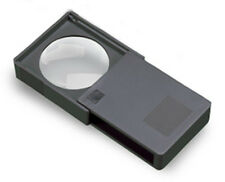 Donegan P-705 5X Opti-Pak Black Pocket Magnifier in Protective Slide-Out Case