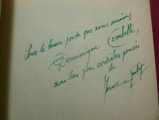 Marcel Chabot L'OURAGAN SUR LA CHANSON ( Poèmes ) envoi de l'auteur ! bois gravé