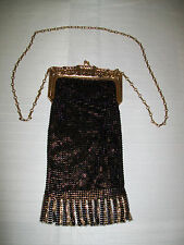 ANTIQUE MANDALIAN? WHITING & DAVIS? FLAPPER MESH ROARING 20'S PURSE, MINT