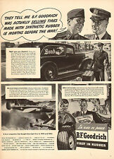 1943 WW2 AD BF GOODRICH Tires Synthetic rubber on post war cars B-25s  092015